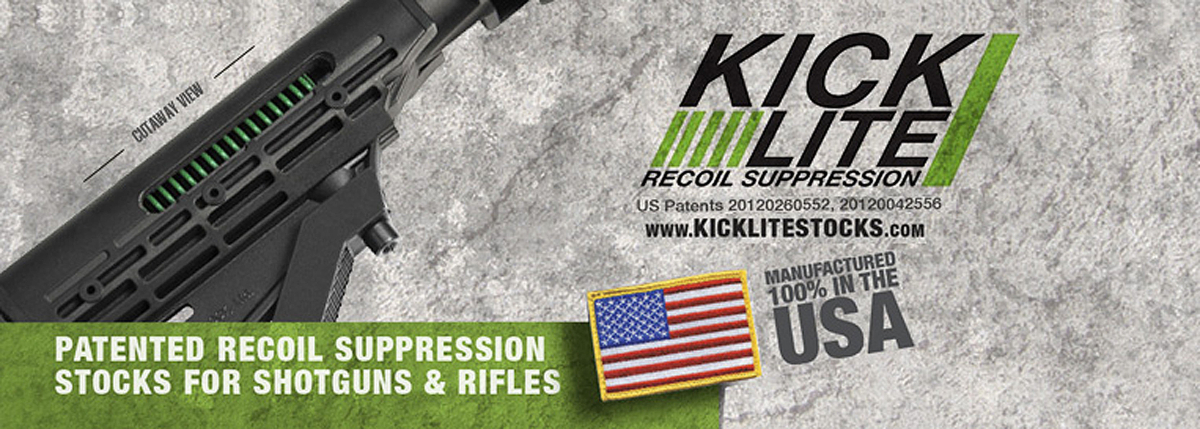 KickLite Recoil Suppression Patented Recoil Suppression Stocks for Shotguns & Rifles