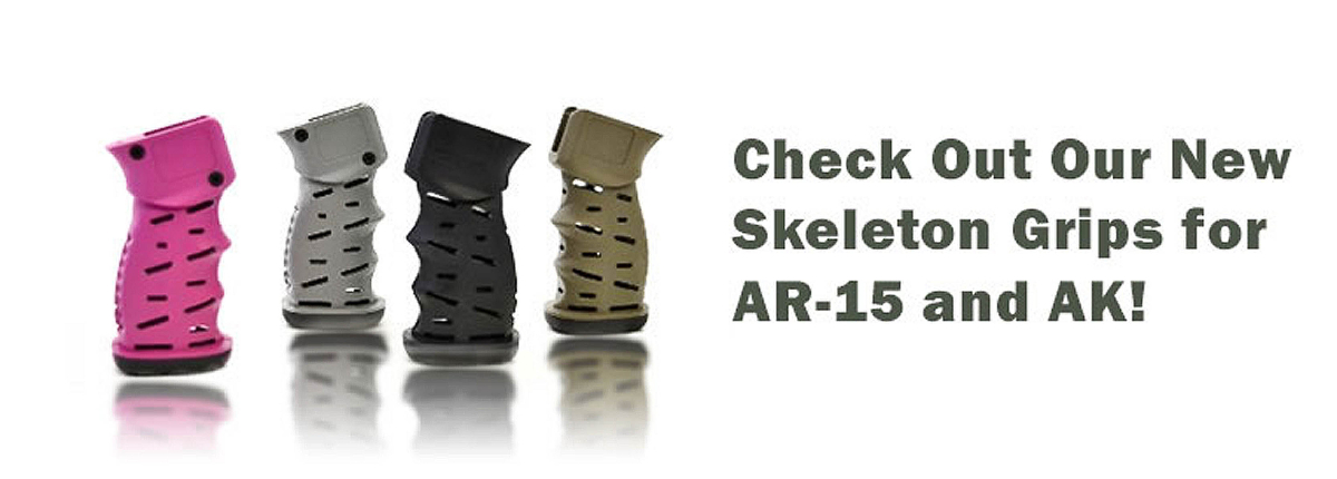 Check Out Our New Skeleton Grips for AR-15 and AK!