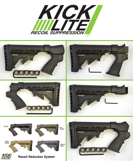 Various KickLite Recoil Suppressors